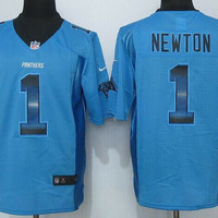Cam Newton #1 Carolina Panthers Nike Strobe Limited Blue Jersey