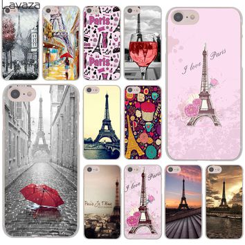 Lavaza The Eiffel Tower paris love pink Hard Cover Case for Apple iPhone 8 7 6 6S Plus 5 5S SE 5C 4 4S X 10 Coque Shell