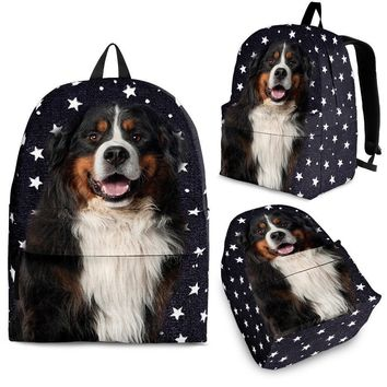 Bernese Mountain Dog Print Backpack-Express Shipping