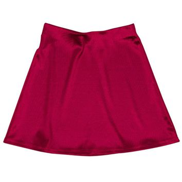 Internet Girl Software Mini Skirt - Red