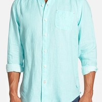 Men's Big & Tall Tommy Bahama 'Sea Glass' Linen Sport Shirt