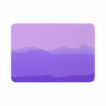 "Iris Lehnhardt ""Gradient Landscape"" Purple Pink Abstract Nature Painting Watercolor Memory Foam Bath Mat"