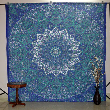 Indian Mandala Tapestry Gypsy Tapestries Dorm Wall Hanging Cotton Bedspread