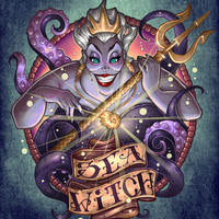 SEA WITCH Art Print by Tim Shumate