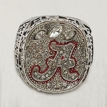 Factory Direct Sale 2012 Alabama Crimson Tide National Championship Replica Ring,18k real gold