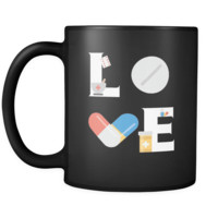 Pharmacist mug - LOVE Pharmacist  - 11oz Black Mug