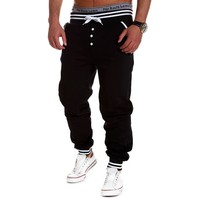 Men's Cool pants Solid Cotton Baggy Jogger Sport Sweat Trousers