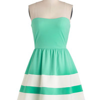 ModCloth Mid-length Strapless A-line Rest and Recreation Dress