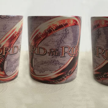 Lord of the Rings mugs  heat changing color coffee mugs cold hot heat sensitive mug heat sensitive Tea Cups Hobbit magic cup