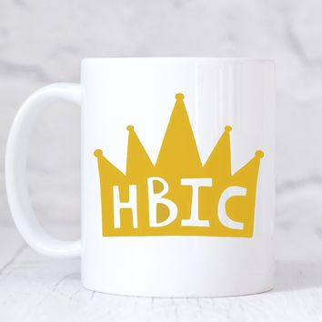 HBIC 11 oz Coffee Mug.  Head Bitch In Charge Cofee Mug / Boss Lady / Lady Boss / Feminist Icon / Female Empowerment / Promotion Gifts / Boss