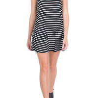 Striped Trapeze Dress-FINAL SALE
