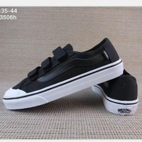 Vans Black/White Classic Canvas Leisure Shoes H-A36H-MY