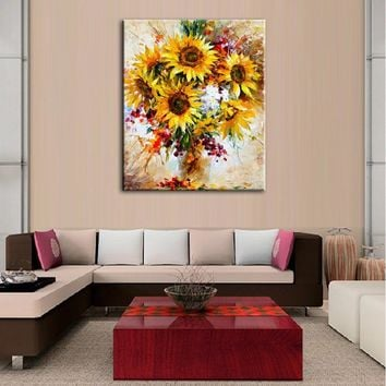 Home decor simulation oil painting on the canvas print Flower  pictures Canvas Painting  DM1610706