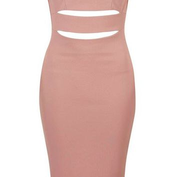 Topshop Slash 'Bardot' Midi Dress (Petite) | Nordstrom