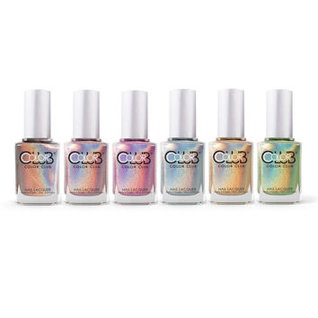 Color Club Halo Hues Holographic 2012 Nail Lacquer Set of 6 Colors
