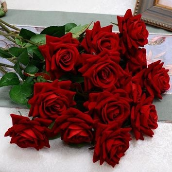 Best fake wedding bouquets products on wanelo 1 bouquet silk rose artificial flowers valentines day gift velv mightylinksfo