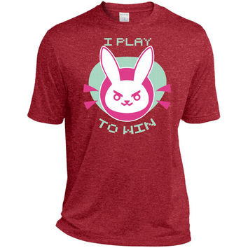 I Play To Win Short Sleeve For Kids  TST360 Sport-Tek Tall Heather Dri-Fit Moisture-Wicking T-Shirt