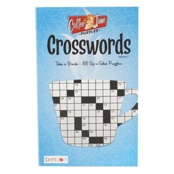 Cross Word Coffee Time Puzzle Book - 24 Units