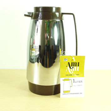 1980s Chrome Vacuum Coffee Carafe - Himilaya Housewares - NIB