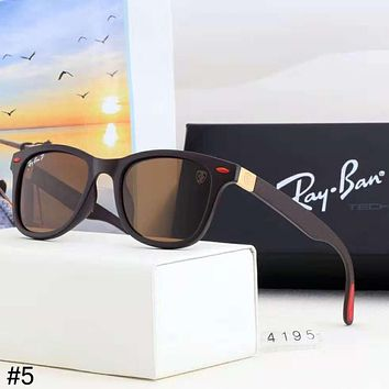 RayBan trend men and women models driving outdoor sports large frame retro polarized sunglasses #5