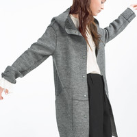 COAT WITH HOOD - View All-OUTERWEAR-WOMAN | ZARA United Kingdom