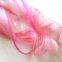 Pastel Ice White and Bubblegum Pink Clip-In Hair Extensions