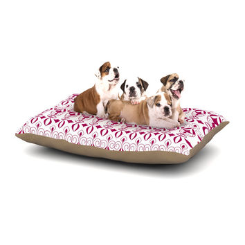 "Julia Grifol ""Warm Deco"" Pink White Dog Bed"