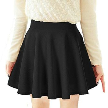 Women's Short Skirts Lady Sweet Short Stretchable Princess Skirt Pleated Mini Skirt