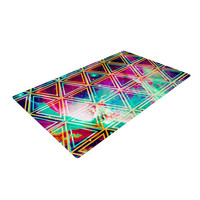 "Caleb Troy ""Neon Triangle Galaxy"" Map Woven Area Rug"