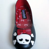 Day of the Dead Muertos Foot Skeleton XRay Flats Goth Emo Punk