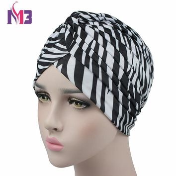Fashion Women Turban Twist Print Turban Headband Bandanas Headwear for Chemo Hijab Turbante Turban Hat Hair Accessories