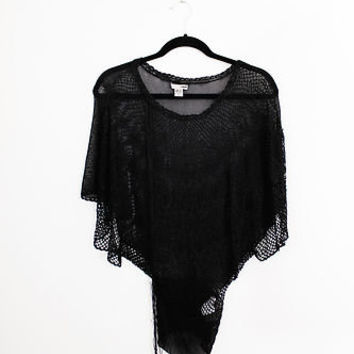 H&M Batwing Top - See-Through Net Top - Size Small