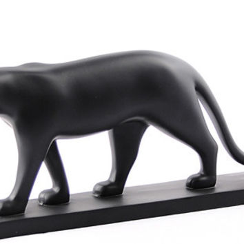 Black Panther Walking Statue by Pompon 11.5W