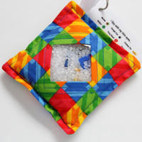 I Spy Bag with detachable item list, Primary Color Squares