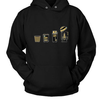 Evolution Of A Wastebasket Hoodie Two Sided