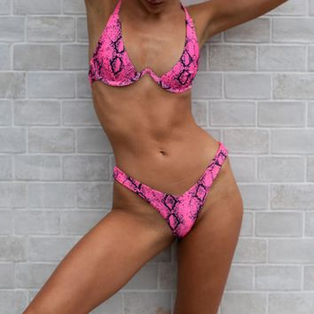 Underwired Snake Bikini Set