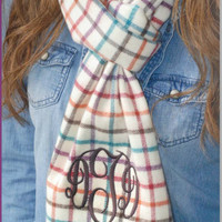 Monogrammed  Country Chic Box Cashmere Feel Scarf