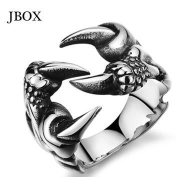 2015 Supreme Men/Boys Ring Western Fashion Punk Vintage Gothic Dragon Claw Stainless S