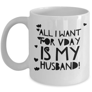 "For Men Gifts Valentines - Valentine's Gift Ideas For Him & Her - Vday Cups For Him Funny - Geeky V-day Gift Jar For Him Under 10 - Quirky Valentine Day Gift - Mugs With Funny Sayings For Husband, Wife - White Ceramic 11"" Vday Jar Cup"