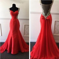 Sweetheart Mermaid  Formal Party Cocktail Sheer Prom Evening Gown Wedding Dress