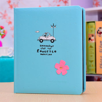 Gallery page type leather 4D 6 inch big 200 cute baby children Memorial Book high-grade album baby growth record book
