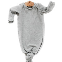 Knotted Sleeper in Heather Gray