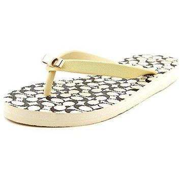Coach Amel Women US 6 Ivory Thong Sandal