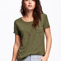 Old Navy Womens Slub Knit Tees