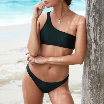 LA Hearts LUXE One Shoulder Bikini Top at PacSun.com