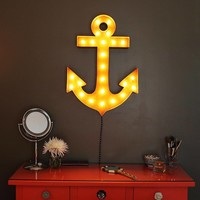 """24"""" Anchor Vintage Marquee Lights Sign (Rustic)"""