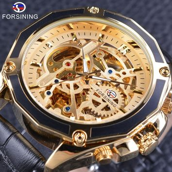 Forsining GMT1031 Mechanical Skeleton Watch