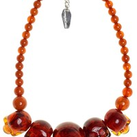 KREEPSVILLE 666 SKULL COLLECTION NECKLACE AMBER - Sourpuss Clothing