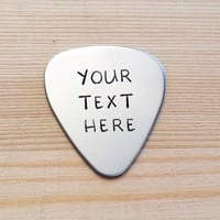 Customized gifts for him her mom dad personalized guitar pick keychain key chain