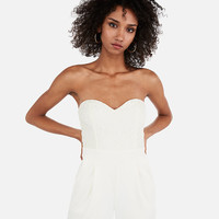 Lace Bodice Strapless Sweetheart Jumpsuit